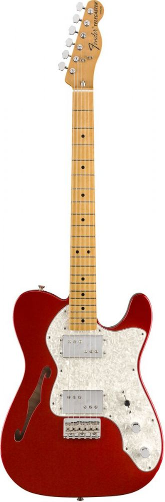 Fender Vintera '70s Telecaster Thinline, Maple  Candy Apple Red